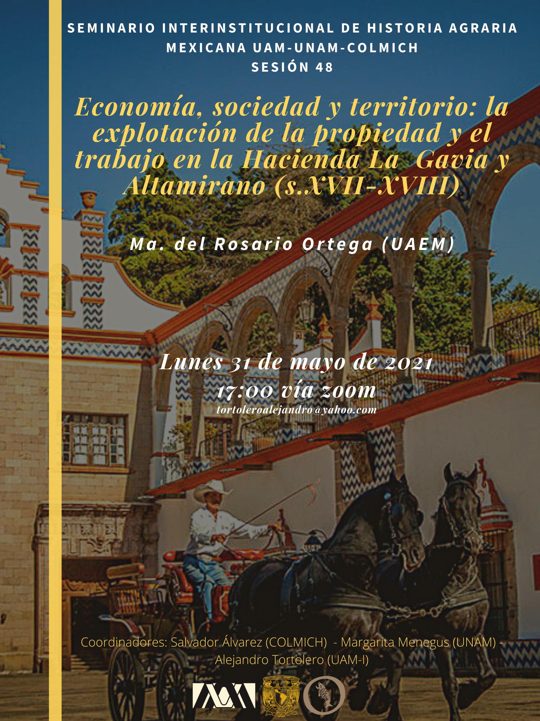 48. Economía, sociedad y territorio la explotación de la propiedad y el trabajo en la Hacienda La Gavia y Altamirano (s.XVII-XVIII)